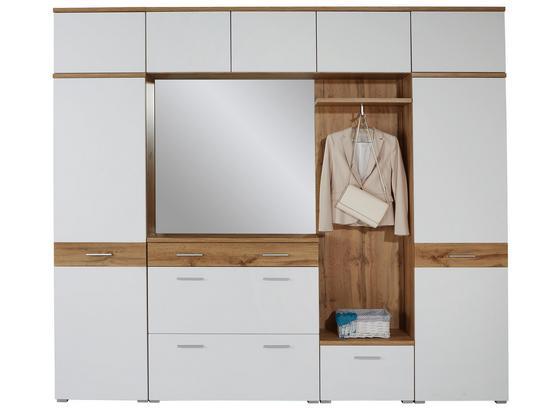 Odporúčaná Kombinácia Skrine Space New 2 - farby dubu/biela, Moderný, kompozitné drevo (265cm)