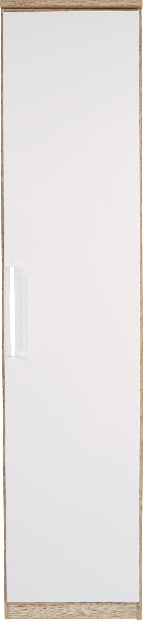 Skříň Šatní Wien - bílá/barvy dubu, Konvenční, kompozitní dřevo (47/212/56cm)