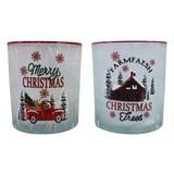Teelichtglas Roxanne Gefrostet - Multicolor, KONVENTIONELL, Glas (7/8cm) - Ombra