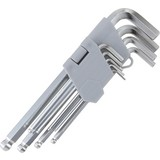 Schlüsselsatz Imbus Kugelkopf - Silberfarben, KONVENTIONELL, Metall