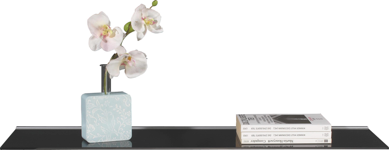 Glas- Wandboard Larry - Alufarben/Schwarz, MODERN, Glas/Kunststoff (80/20/4,8cm) - HOMEZONE