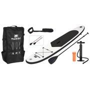 Stand-Up Paddle Board Sup Kunststoff, Schwarz/Weiß - Schwarz/Weiß, Basics, Kunststoff (305/7,1/10cm)