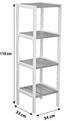 Regál Bambu - bílá/hnědá, Moderní, dřevo/kompozitní dřevo (34/110/33cm)