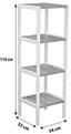 Regal Bambu - Weiß/Braun, MODERN, Holz/Holzwerkstoff (34/110/33cm)