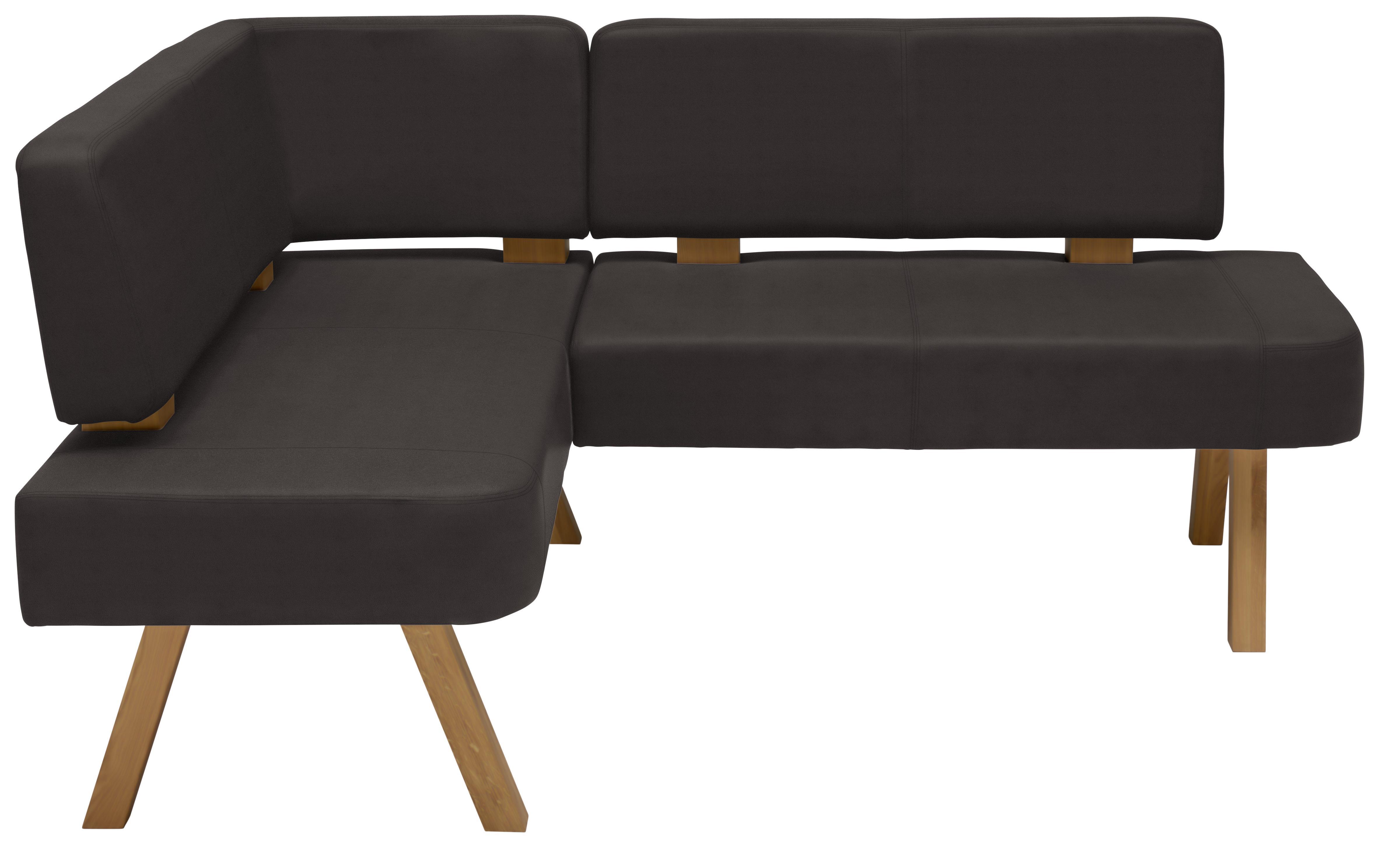 Vladon Sitzm/öbel Eckbank Dallas 170 x 81,5 x 129 cm gepolsterte Kunstleder-Sitzbank in Anthrazit