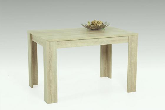 Jedálenský Stôl Doris - dub sonoma, Štýlový, drevený materiál (120/76/80cm)