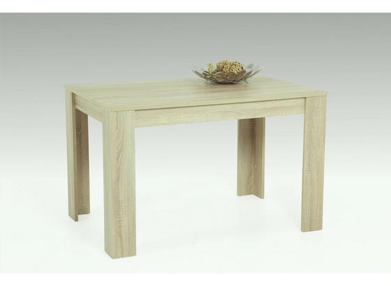 Jedálenský Stôl Doris - dub sonoma, Štýlový, kompozitné drevo (120/76/80cm)