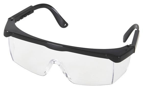 Schutzbrille Transparent - Transparent/Schwarz, KONVENTIONELL, Kunststoff