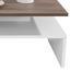 Konferenčný Stolík Laura - farby dubu/biela, Moderný, kompozitné drevo (90/42/60cm)