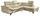 Wohnlandschaft in L-Form Driver 266x214 cm - Chromfarben/Champagner, MODERN, Textil (266/214cm)