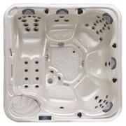 Whirlpool Acryl Siena 228x228x90 cm - Dunkelgrau/Weiß, MODERN, Kunststoff (228/228/90cm)