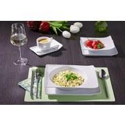 Suppenteller Marie L/B: 25/20,5 cm - Weiß, ROMANTIK / LANDHAUS, Keramik (25cm) - James Wood