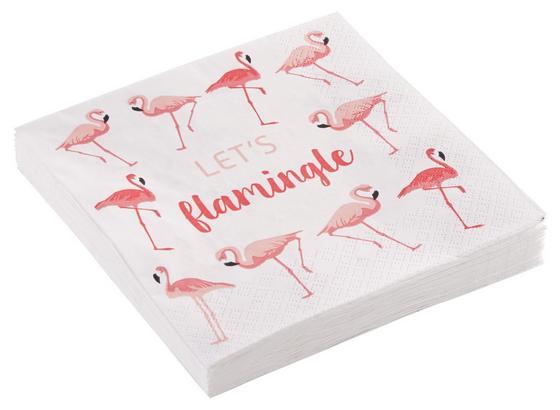 Ubrousek Flamini - bílá/růžová, papír (33/33cm) - Mömax modern living