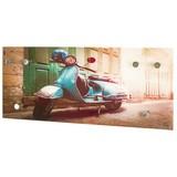 Hakenleiste Scooter B: ca. 70 cm Print - Multicolor, Basics, Glas/Metall (70/30/5cm)