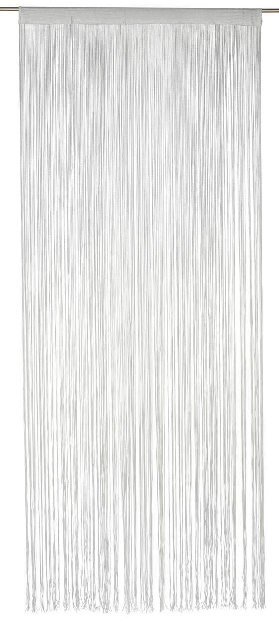 Fadenstore Marietta - Weiß, KONVENTIONELL, Textil (90/245cm) - Ombra