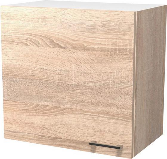 Kuchyňská Horní Skříňka Samoa  H 60 - bílá/barvy dubu, Konvenční, dřevěný materiál (60/54/32cm)