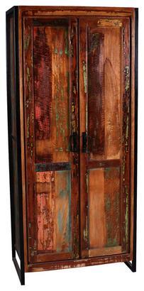 Garderobenschrank aus Recyclingholz