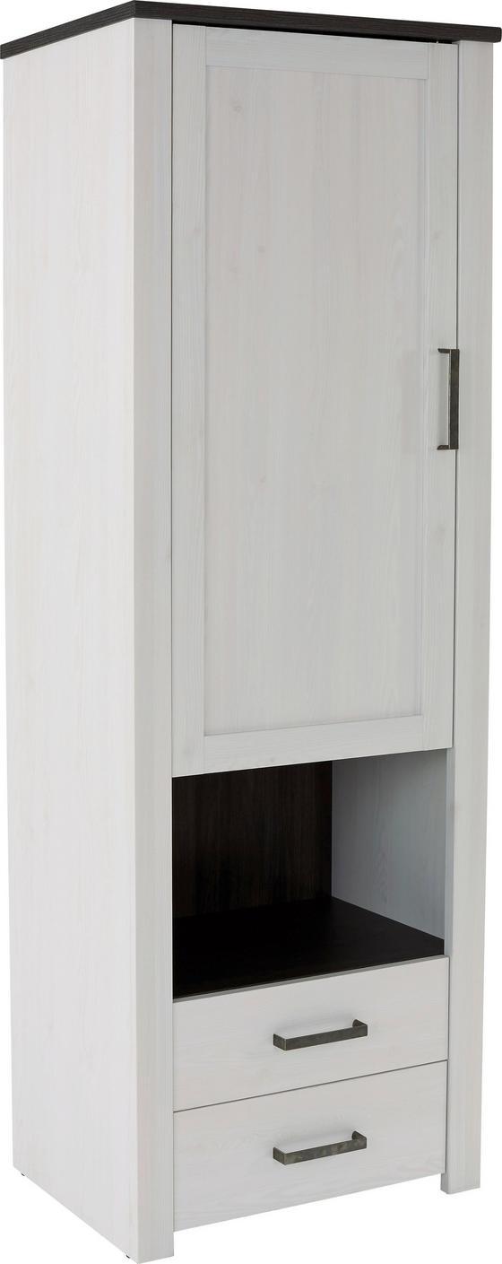 Szekrény Provence - fehér/wenge színű, romantikus/Landhaus, faanyagok (71,2/200/42cm) - JAMES WOOD
