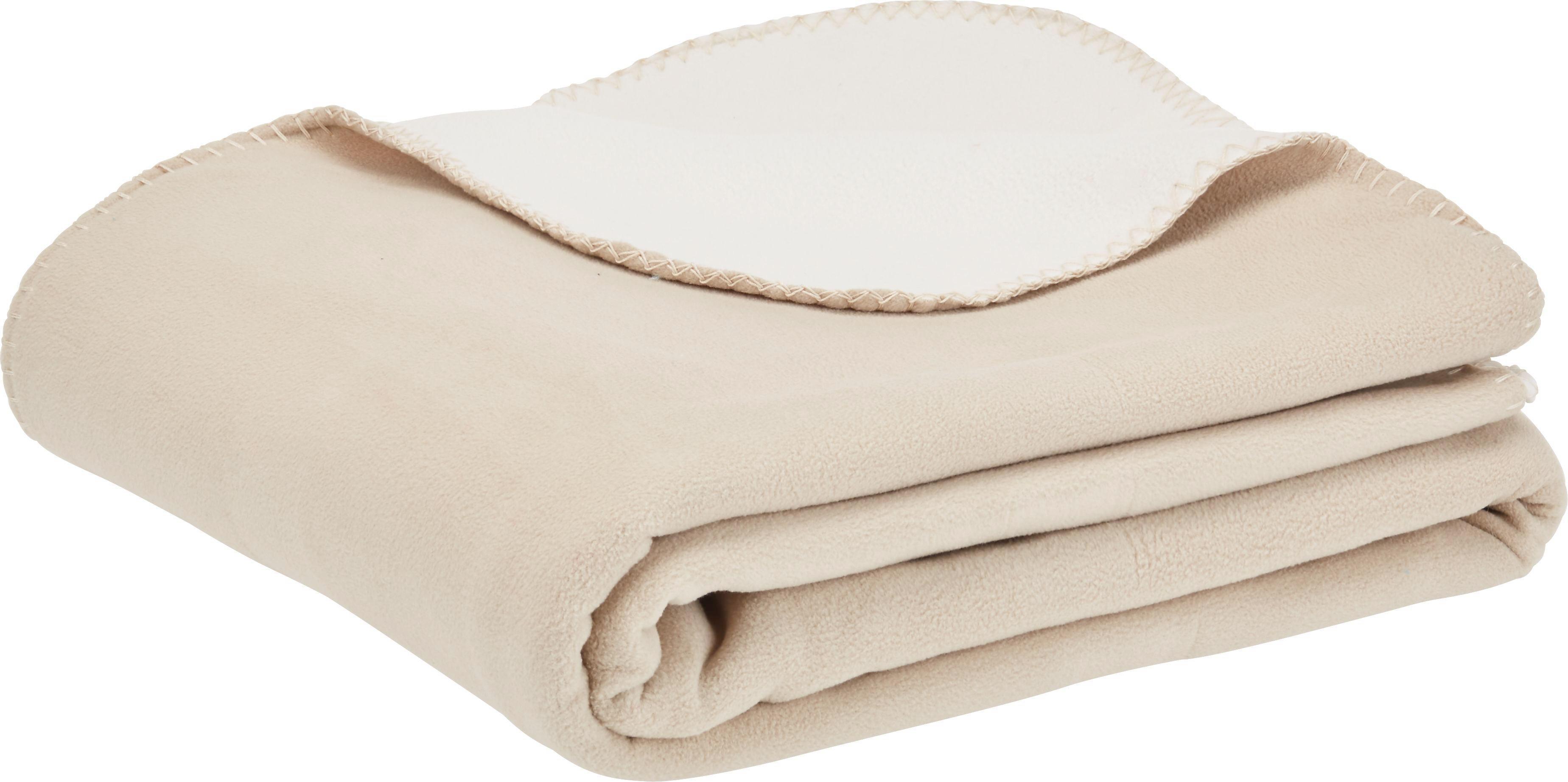 Fleecová Přikrývka Martin  Oboustranná - bílá/béžová, textil (150/200cm) - MÖMAX modern living