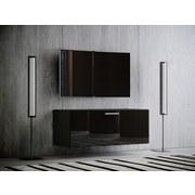 TV-Element Fernso B: 95 cm Schwarz - Schwarz, KONVENTIONELL, Holzwerkstoff (95/40/36cm) - MID.YOU