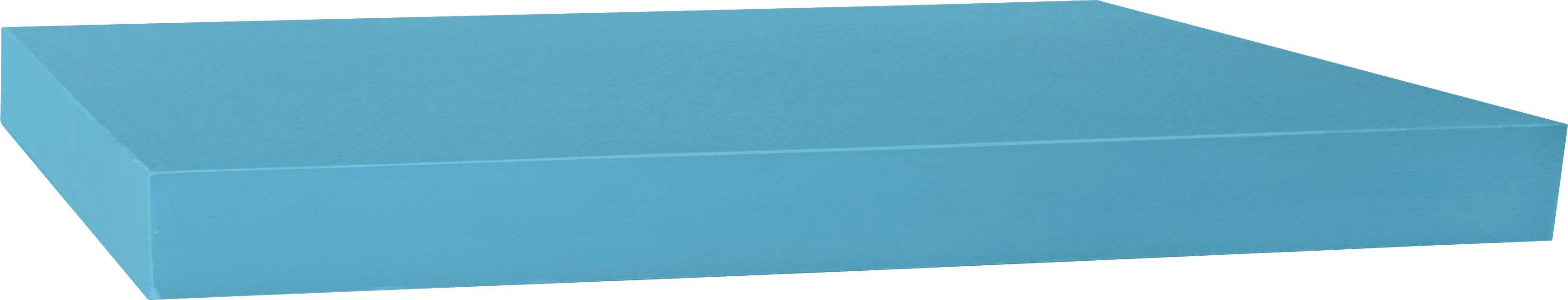 Falipolc Simple - petrol, modern, műanyag/faanyagok (80/3,8/23,5cm)