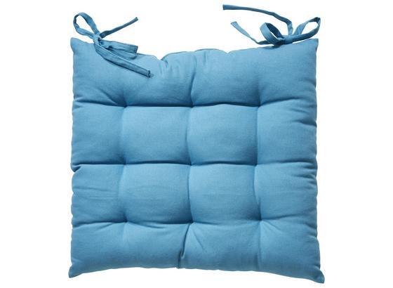Sedák Bill - modrá, textilie (40/40cm) - Mömax modern living