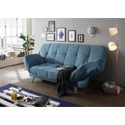 Schlafsofa Ikar B: ca. 208 cm - Blau/Silberfarben, MODERN, Textil (208/102/98cm) - Carryhome