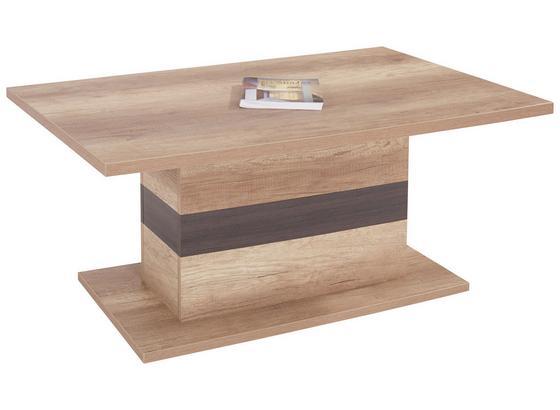Couchtisch Holz mit Ablage Mali, Canyon Grey Dekor - Eichefarben/Dunkelbraun, MODERN, Holzwerkstoff (110/49/67cm)