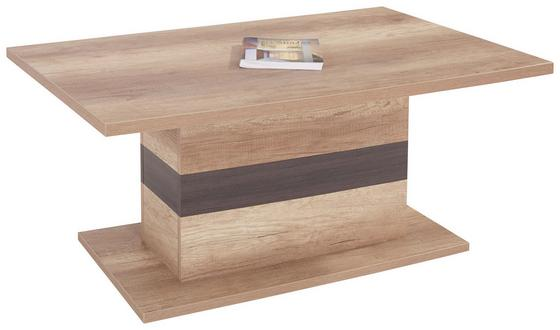 Konferenčný Stolík Mali - farby dubu/tmavohnedá, Moderný, drevený materiál (110/49/67cm)
