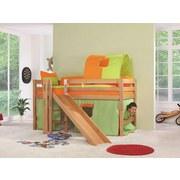 Spielbett Eliyas 90x200 cm Buche Massiv - Naturfarben/Weiß, Design, Holz/Textil (208/186/113cm)