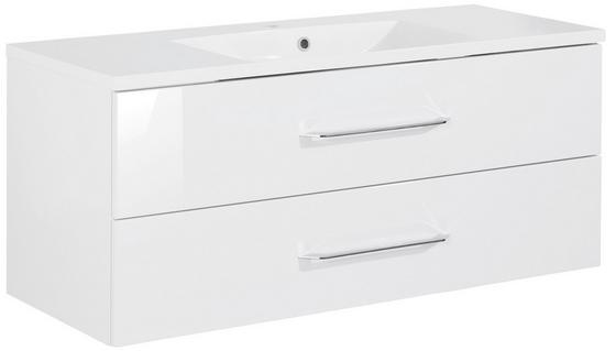 Waschtischkombi B.clever 120 cm Weiß - Weiß, MODERN, Holzwerkstoff/Kunststoff (120/51/46cm) - Fackelmann