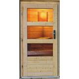Saunahaus Nantes Integr.steuerung Am Ofen - Naturfarben, MODERN, Holz (196/228/146cm) - Karibu