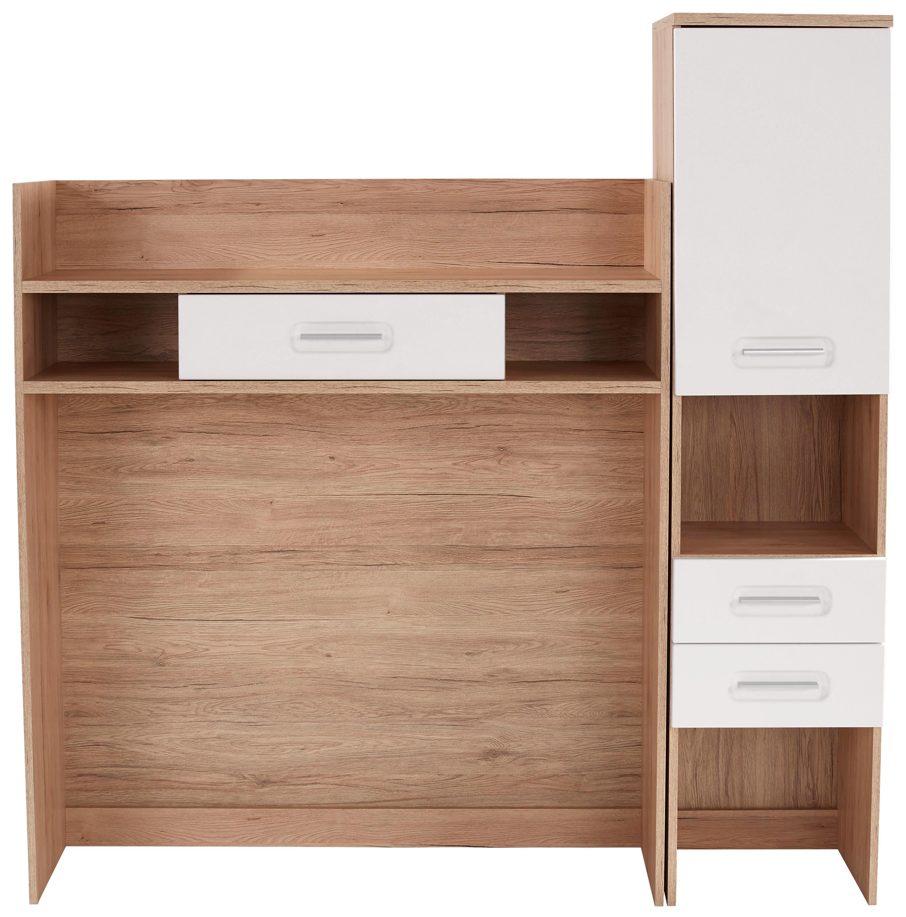 Tv-rátét Livorno New - tölgy színű/fehér, konvencionális, faanyagok (160/166/38cm)