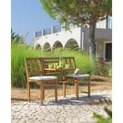 Gartenbank Avignon - Akaziefarben, MODERN, Holz/Metall (131/85/52cm) - Ombra