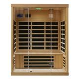 Infrarotkabine 3 Personen 150x110x190cm Hemlock IIi Mbx - Naturfarben, MODERN, Glas/Holz (150/110/190cm)