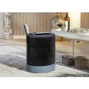 Hocker Osane B: 38 cm Schwarz/Blau - Blau/Schwarz, Basics, Holzwerkstoff/Kunststoff (38/43/32,5cm) - MID.YOU