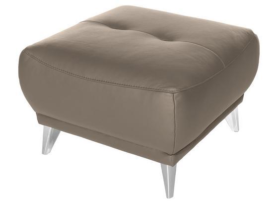 Hocker Frisco - Sandfarben/Chromfarben, MODERN, Textil (65/46/65cm)