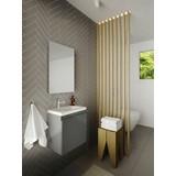 Badmöbel-Set 2-Tlg. Allibert 40cm - Weiß/Grau, MODERN, Keramik/Holzwerkstoff (40/48/25cm) - Livetastic