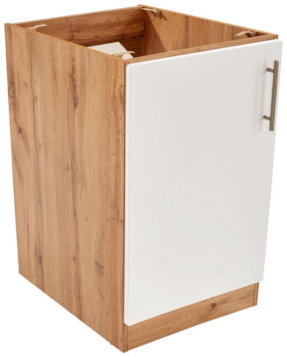 Spülenunterschrank Stella Spu50-1 - Eichefarben/Weiß, Holzwerkstoff (50/86/57cm) - Ombra