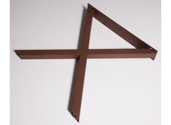 Tischgestell X-Form B 70cm H 71 cm, Rostfarben - Rostfarben, Basics, Metall (70/71cm)