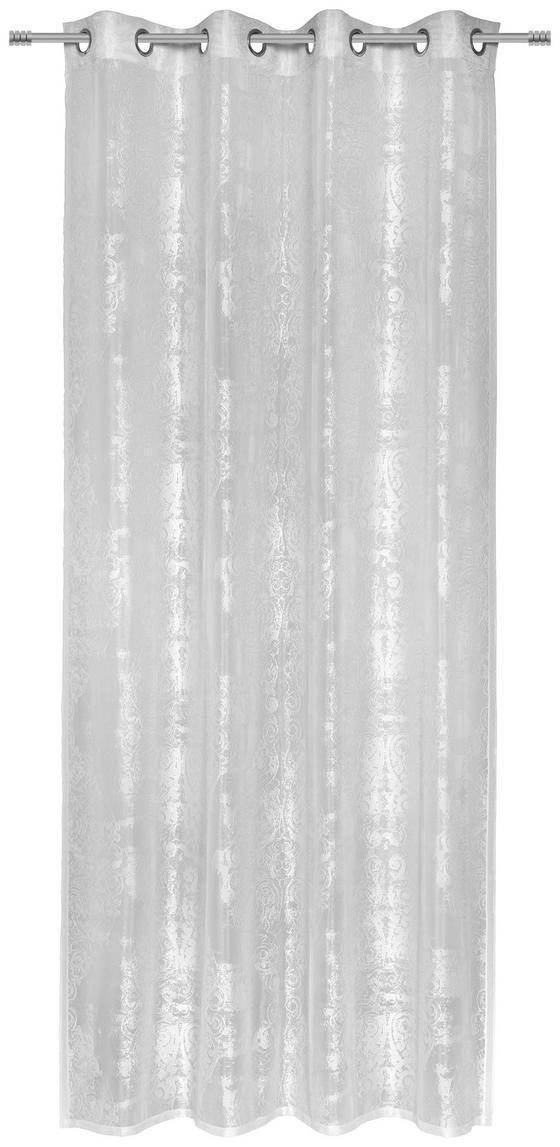 Ösenvorhang Astrid - Silberfarben, ROMANTIK / LANDHAUS, Textil (140/245cm) - James Wood