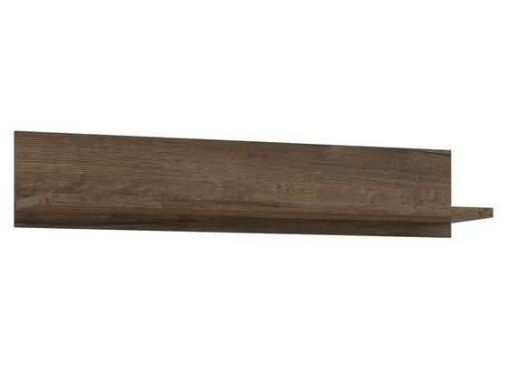 Nástěnná Police Lacjum - barvy dubu, Moderní, kompozitní dřevo (150/29,6/31,1cm)