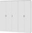 Skříň Šatní Lemgo - bílá, Konvenční, dřevo (226/212/54cm)