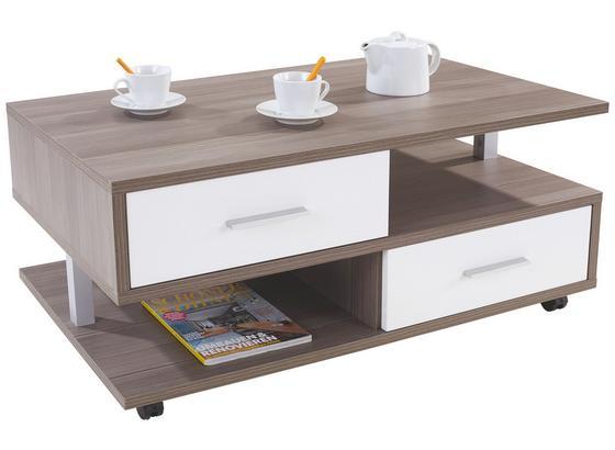 Couchtisch Holz mit Stauraum Quattro, Avola Dekor - Eichefarben, MODERN, Holzwerkstoff (105/45/60cm)