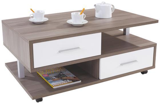 Dohányzóasztal Quattro - Tölgyfa, konvencionális, Faalapú anyag (105/45/60cm)
