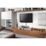 TV-Aufsatz Felino Maxi B: 105 cm - Klar/Silberfarben, KONVENTIONELL, Glas/Metall (105/30/42cm) - Livetastic