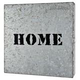 Schlüsselkasten Home B: ca. 25 cm - Zinkfarben, Basics, Metall (25/25/5cm)
