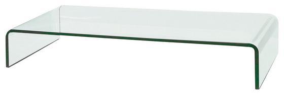 Tv-rátét Hagen - modern, üveg (90/11/25cm)