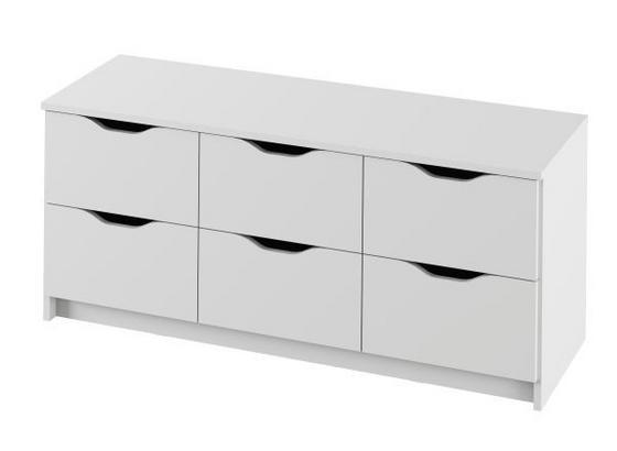 Komoda Adriana 1 Biela - biela, Moderný, kompozitné drevo (116/50/40cm)