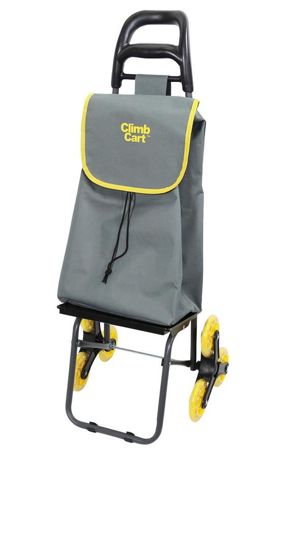 Einkaufstrolley The Climb Cart ™ - Gelb/Grau, Kunststoff/Metall (54/38/11cm) - Mediashop